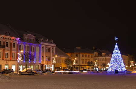 the christmas tree at Vilnius square, Lithuania