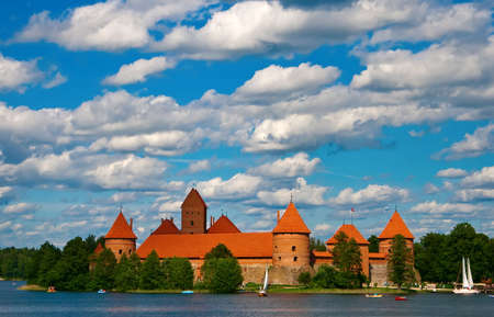 Trakai castle near Vilnius, in Lithuania
