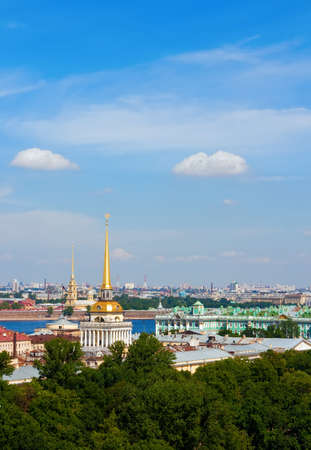 bird's eye view of Saint-Petersburg's historical centre, Russia Stock Photo - 7782680
