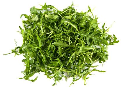 ruccola: ruccola or arugula or rocket salad isolated on white background
