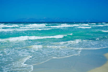 kos: waves on the Aegean sea, Kos Island, Greece, Dodecanese
