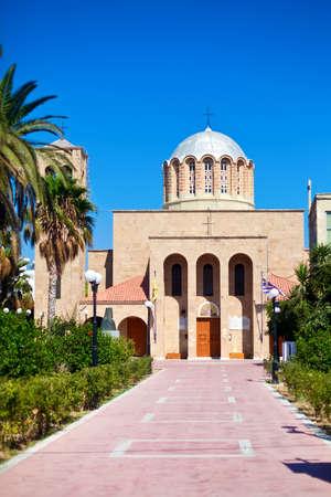 dodecanese: Agios Nikolaos - church in Kos, Dodecanese, Greece Stock Photo