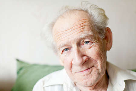 portrait of a calm smiling senior man Stock Photo