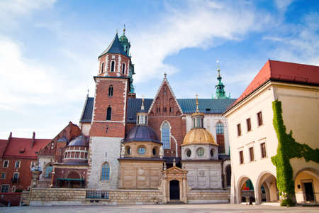 wawel: the Basilica of St Stanislaw and Vaclav or Wawel Cathedral on Wawel Hill in Krakow, Poland Stock Photo