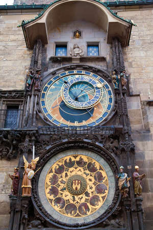 famous astronomical clock in Prague, Czech Republic