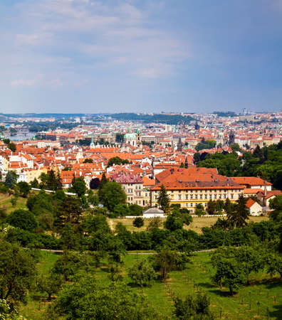 beautiful view of Prague from Petrin Hill photo