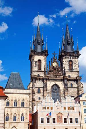 tyn: view of the Tyn Church in Prague, Czech Republic