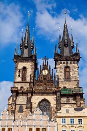tyn: view of the Tyn Church in Prague