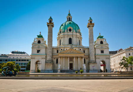 st charles: St  Charles Church  Karlskirche  in Vienna, an example of baroque architecture