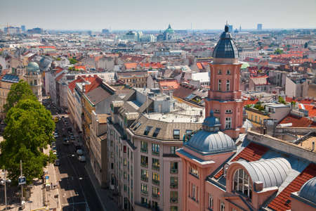 street and houses of Vienna from above