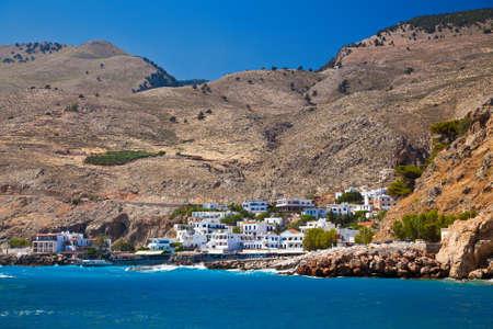 chora: casas de Chora Sfakion - peque�a ciudad portuaria en el sur de Creta, Grecia