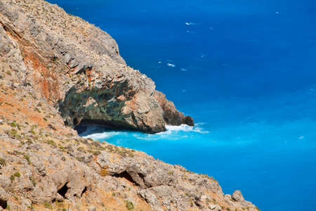 unbelievable: unbelievable color of Lybian sea with blue azure water