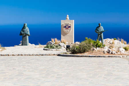 abbot: Monument to Resistance fighters, represents a Preveli abbot and an Allied soldier  This memorial commemorates the Battle of Crete in 1941