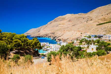 chora: Chora Sfakion - a small village in the south Crete, Greece Stock Photo