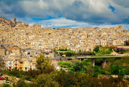 old residential architecture at Caltagirone, Sicily, Italy