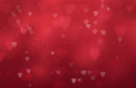 wallpaper pattern: heart shapes on a red  Stock Photo
