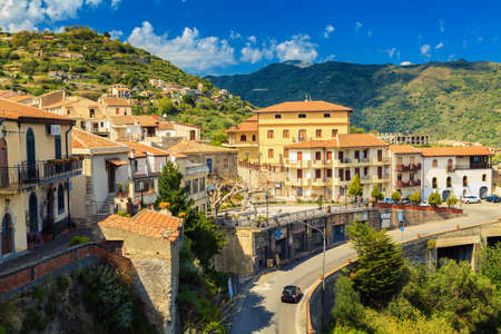 beautiful view of the little town Savoca - the city of Godfather film, Sicily, Italy