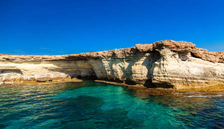 greco: beautiful view of sea caves not far from Ayia Napa, Cape Greco, Cyprus