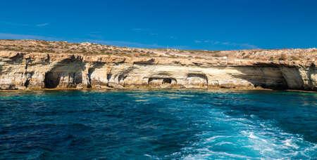 greco: famous sea caves near Ayia Napa, Cape Greco, Cyprus