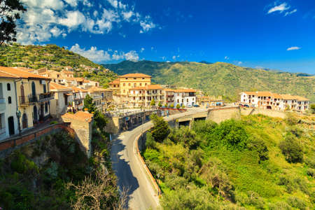 view of small village Savoca near Taormina on the east side of Sicily, Italy photo