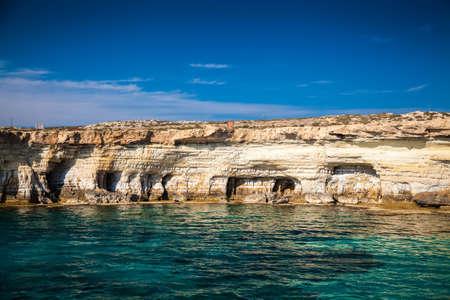 greco: sea caves near Ayia Napa, Cape Greco, Cyprus