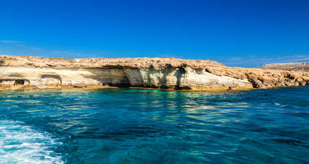 greco: sea caves not far from Ayia Napa, Cape Greco, Cyprus
