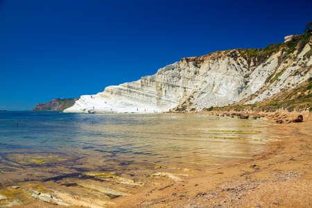 agrigento: white cliff named Scala dei Turchi near Agrigento, Sicily