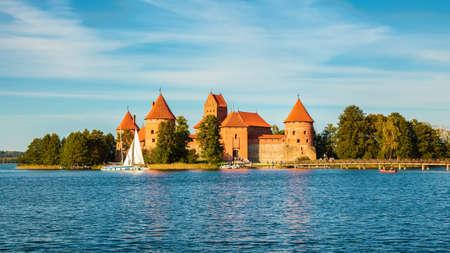 well-known Trakai castle near Vilnius, in Lithuania Stockfoto