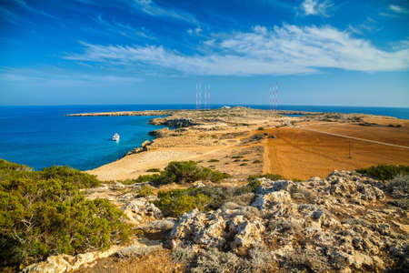 greco: beautiful view of a natural park Cape Greco near Ayia Napa, Cyprus Stock Photo