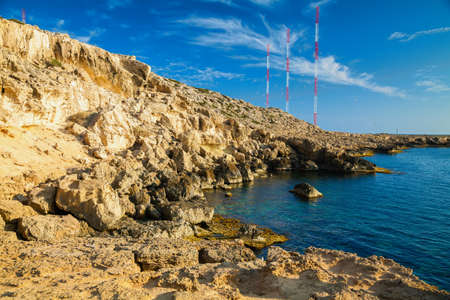 greco: rocky coastline of a natural park Cape Greco near Ayia Napa, Cyprus