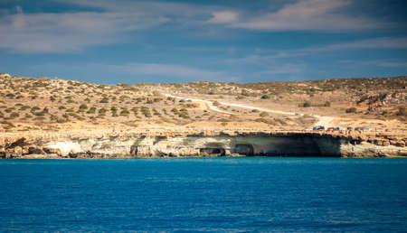 greco: landscape with sea caves near Ayia Napa, Cape Greco, Cyprus
