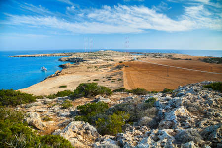 greco: beautiful landscape of a natural park Cape Greco near Ayia Napa, Cyprus Stock Photo