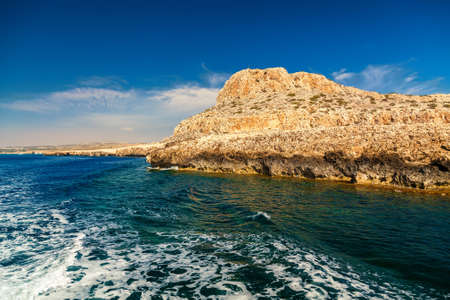 greco: view of the Cape Greco from the sea, Ayia Napa, Cyprus