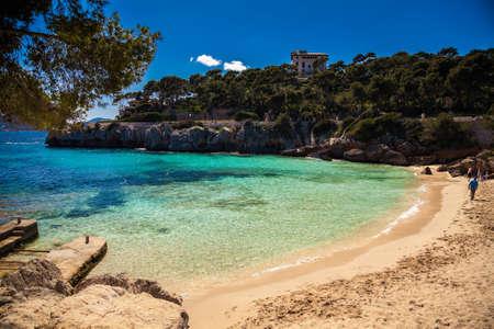 gat: sandy Cala Gat beach, Majorca, Spain