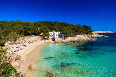 gat: beautiful beach with turquoise sea water, Cala Gat, Majorca, Spain