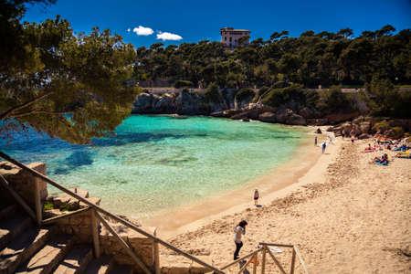 gat: Cala Gat beach in the spring, Majorca, Spain Stock Photo