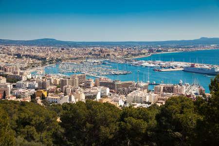 aerial view of the port of Palma de Mallorca, Spain
