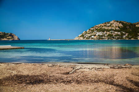 view of the harbour of Port d'Andratx, Majorca, Spain Stockfoto