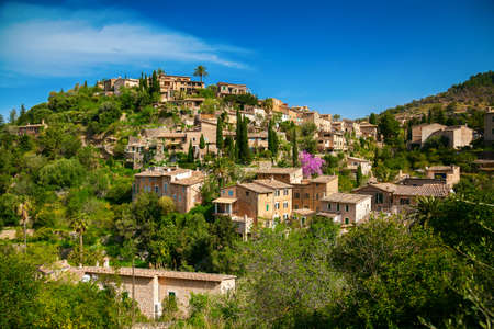 mediterranian: beautiful view of a small mountain village Deia in Mallorca, Spain