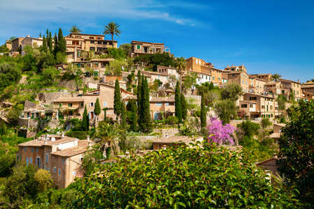 mediterranian houses: small houses of the beautiful village Deia, Mallorca, Spain