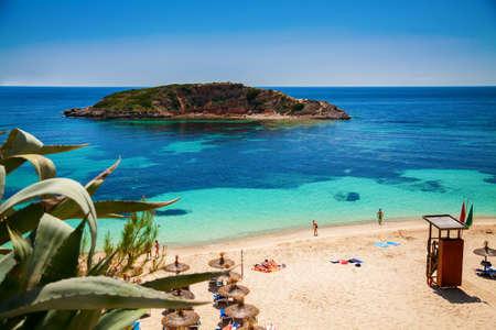 portals: popular Portals Nous (Playa Oratorio) beach in Mallorca, Spain Stock Photo