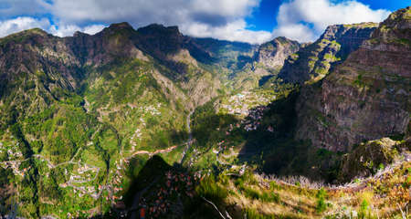 nuns: beautiful panorama of the Nuns Valley in Madeira, Portugal Stock Photo