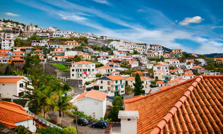 small houses: small houses in the Funchals residential district, Madeira island, Portugal Stock Photo