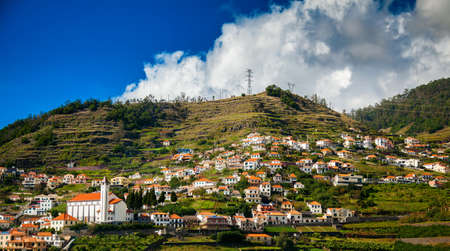 suburbs: small houses in the Funchals suburbs, Madeira island, Portugal