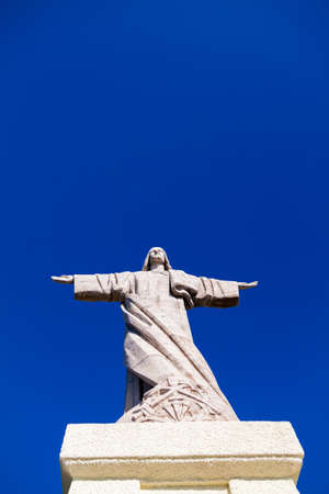 crist: the statue of Jesus Christ at Garajau in Funchal, Madeira Stock Photo