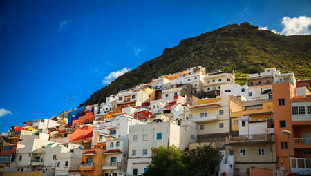 canaries: colorful houses of San Andres town, Tenerife island, Canaries, Spain Stock Photo