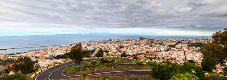 santa cruz de tenerife: panoramic view of Santa Cruz de Tenerife, the capital of Tenerife Island Stock Photo