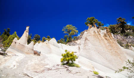 amazing landscape of Paisaje Lunar with great erosion in Tenerife, Canary Islands, Spain Stock Photo