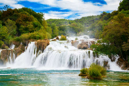 the biggest waterfall in Krka National Park - Skradinski Buk, Croatia