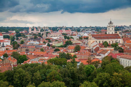 Beautiful view of the Old town in Vilnius - capital of Lithuania Stockfoto